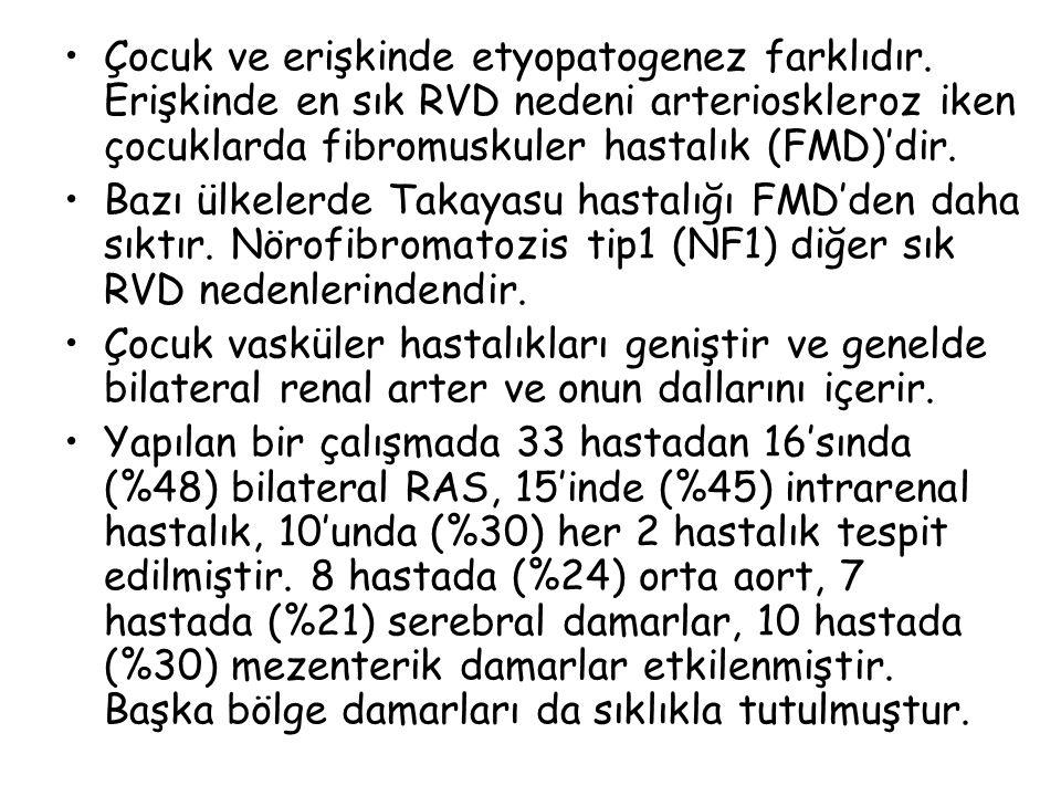 BT anjiografi Multidedektör yöntemi ile RVD tanısında daha çok kullanılmaya başlandı.