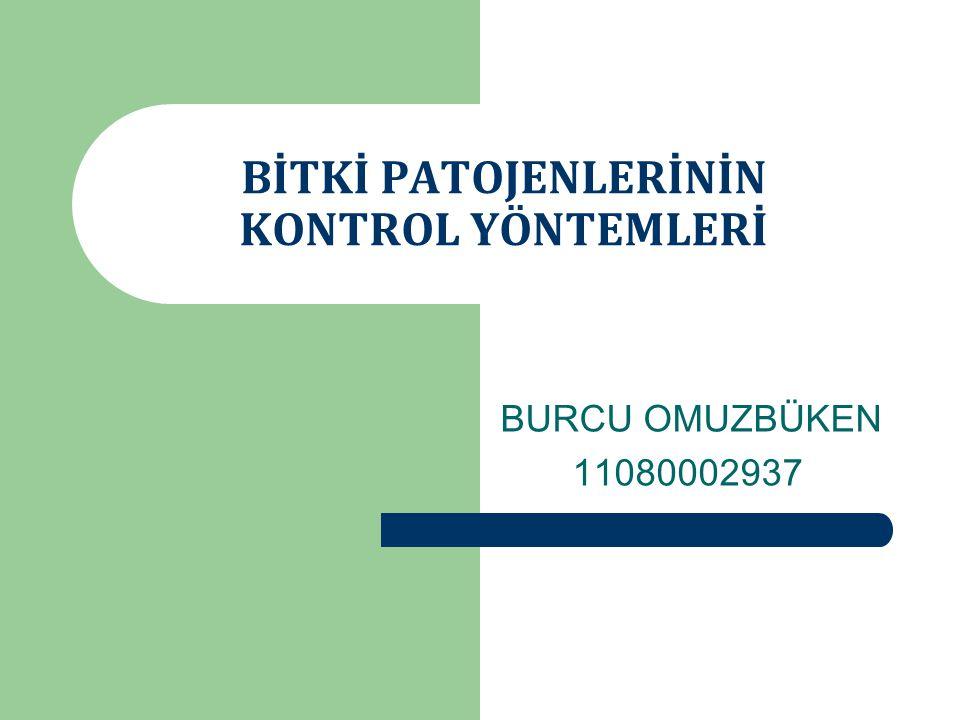 BİTKİ PATOJENLERİNİN KONTROL YÖNTEMLERİ BURCU OMUZBÜKEN 11080002937