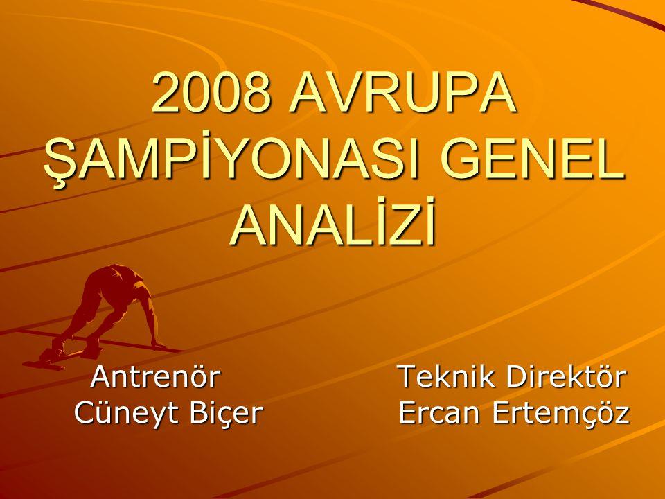 2008 AVRUPA ŞAMPİYONASI GENEL ANALİZİ Antrenör Teknik Direktör Cüneyt Biçer Ercan Ertemçöz Antrenör Teknik Direktör Cüneyt Biçer Ercan Ertemçöz