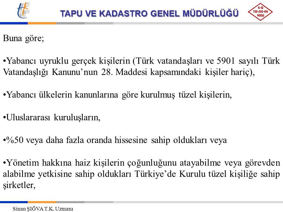 TAPU VE KADASTRO GENEL MÜDÜRLÜĞÜ ana sözleşmelerinde belirtilen faaliyet konularını yürütmek üzere Türkiye'de taşınmaz ve sınırlı ayni hak edinebilirler.