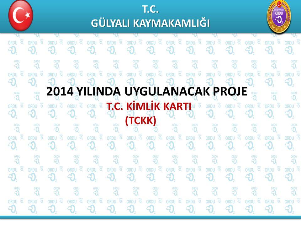 T.C. GÜLYALI KAYMAKAMLIĞI T.C. 2014 YILINDA UYGULANACAK PROJE T.C. KİMLİK KARTI (TCKK)