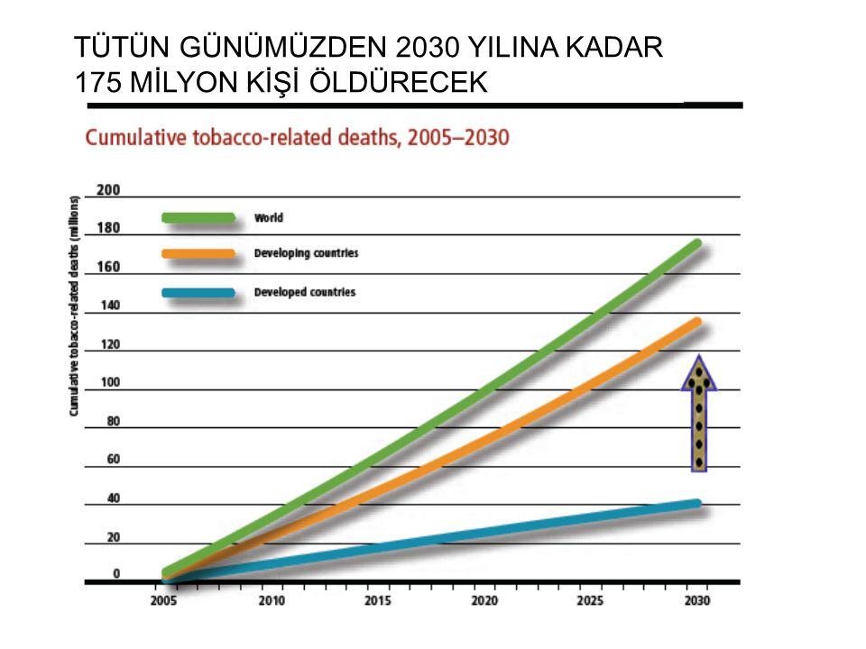 TÜTÜN GÜNÜMÜZDEN 2030 YILINA KADAR 175 MİLYON KİŞİ ÖLDÜRECEK