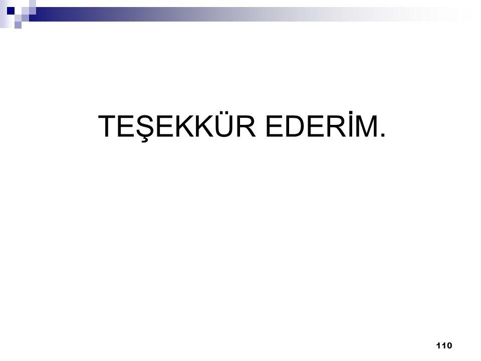 110 TEŞEKKÜR EDERİM.