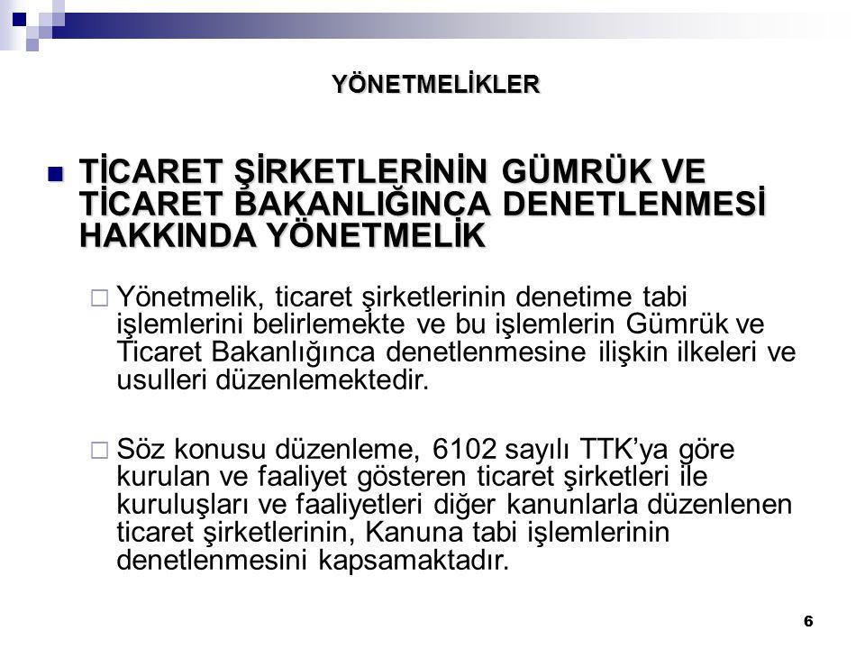 107 ÖNEMLİ HUSUSLAR Kanun'un 174.