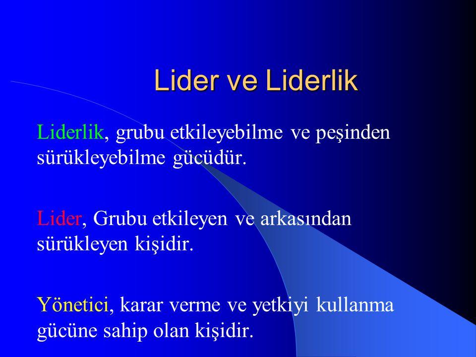 Yönetici ve Lider Arasındaki Farklılıklar 1.