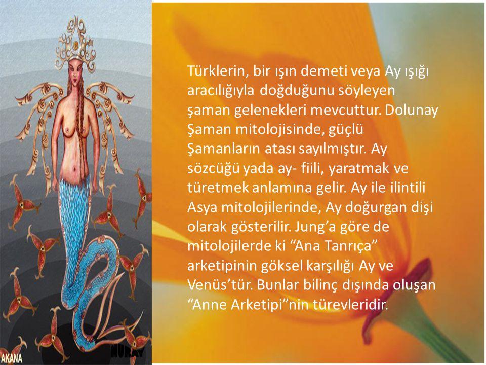 Türklerin, bir ışın demeti veya Ay ışığı aracılığıyla doğduğunu söyleyen şaman gelenekleri mevcuttur.