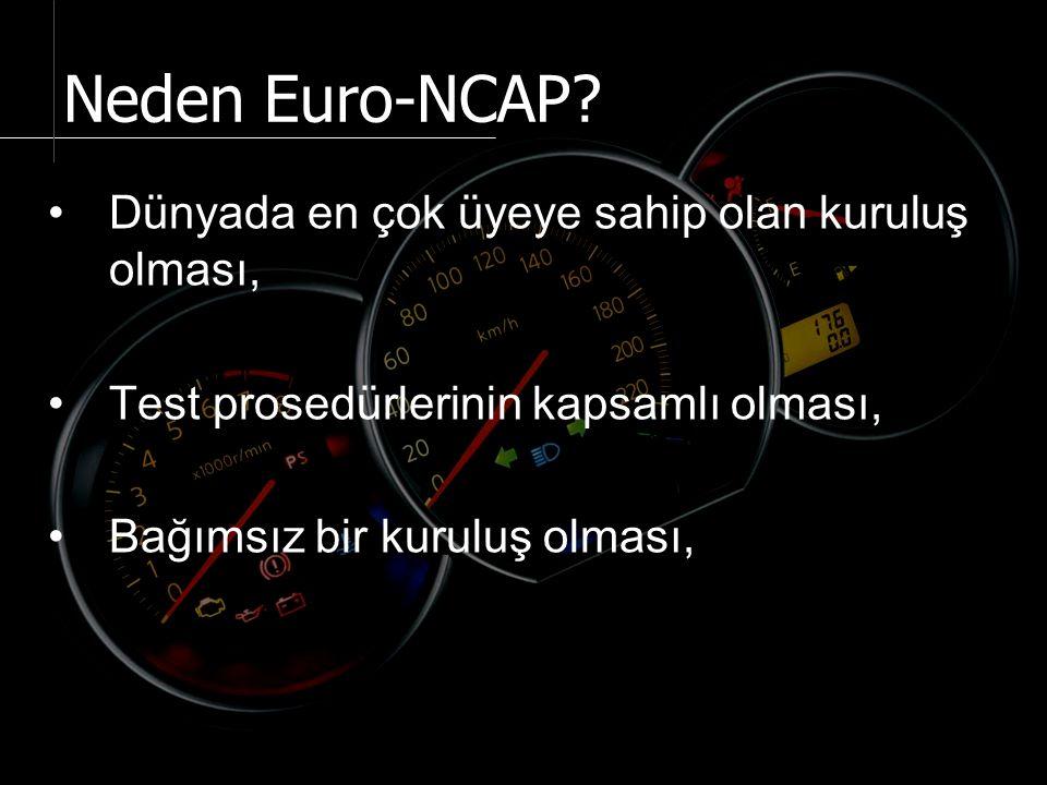 Dünyada en çok üyeye sahip olan kuruluş olması, Test prosedürlerinin kapsamlı olması, Bağımsız bir kuruluş olması, Neden Euro-NCAP?