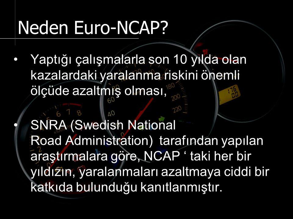 Güvenlik testleri için gerekli olan prosedürler Avrupa Araç Güvenliğini Artıma Komitesi (EEVC) tarafından hazırlanmaktadır.