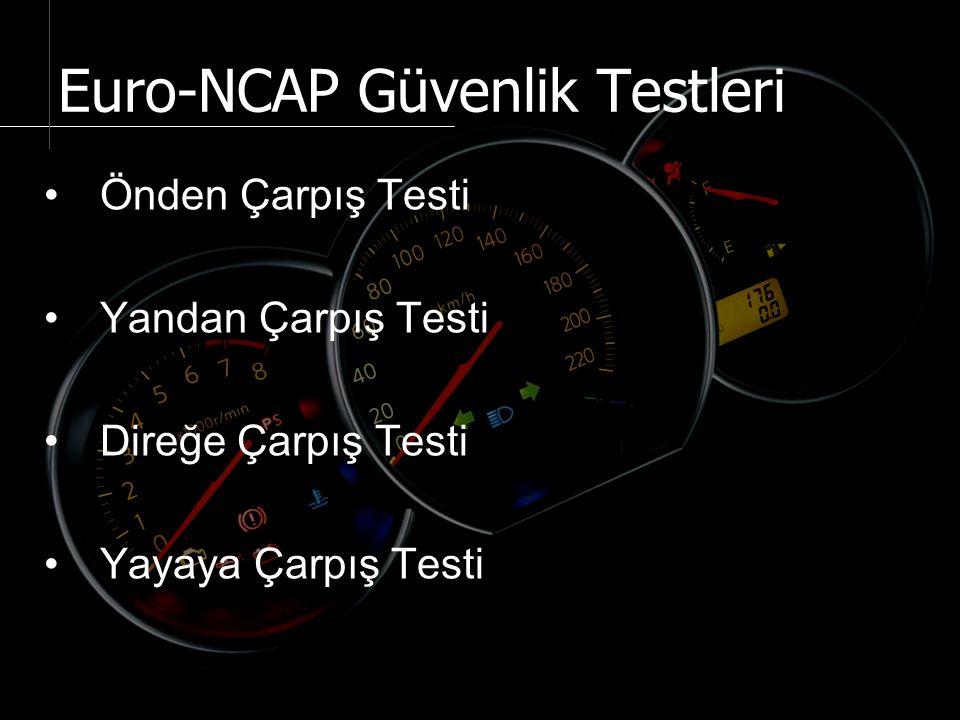 Önden çarpış testi, Avrupa Araç Güvenliğini Artırma Komitesi'nden alınan temel yasalar ışığında, ancak hızın 8 km/h daha artırılmasıyla uygulanması öngörülen bir test olarak geliştirilmiştir.