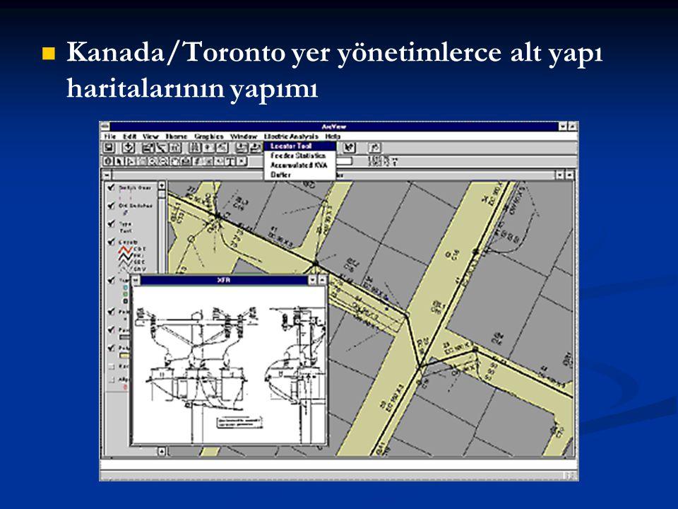 Kanada/Toronto yer yönetimlerce alt yapı haritalarının yapımı
