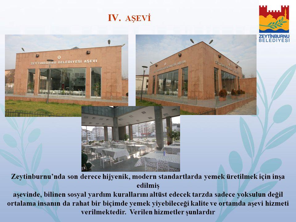 Zeytinburnu'nda son derece hijyenik, modern standartlarda yemek üretilmek için inşa edilmiş aşevinde, bilinen sosyal yardım kurallarını altüst edecek