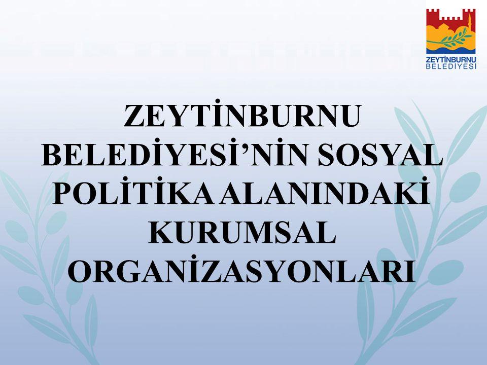 ZEYTİNBURNU BELEDİYESİ'NİN SOSYAL POLİTİKA ALANINDAKİ KURUMSAL ORGANİZASYONLARI