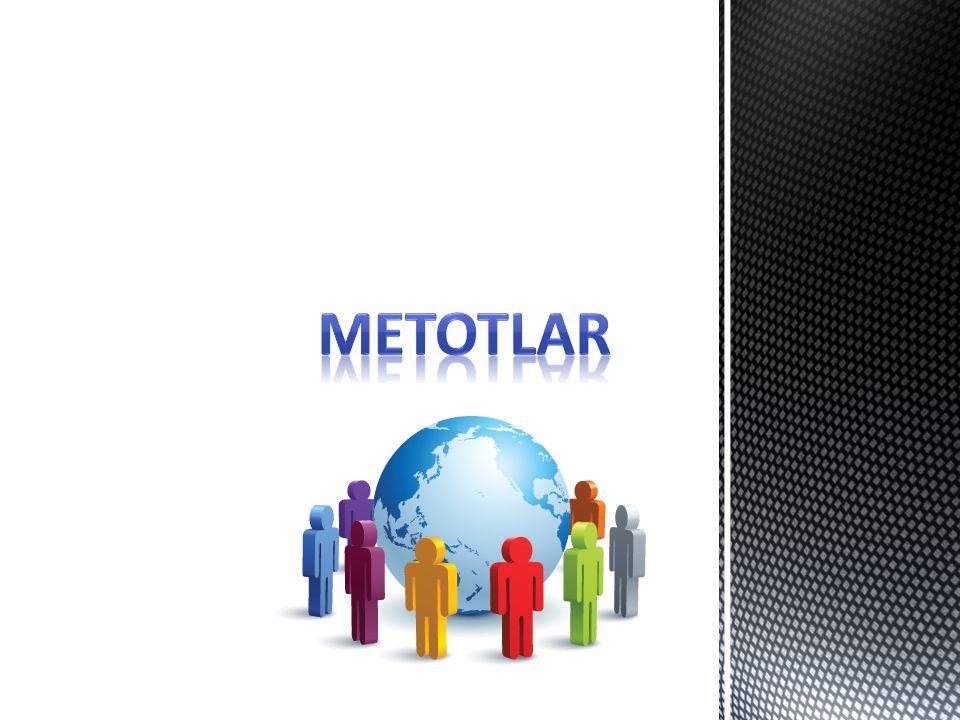 Programların herhangi bir yerinde kullanılmak için belirli bir işi yerine getirmek amacıyla tasarlanmış alt programlara metot denilir.