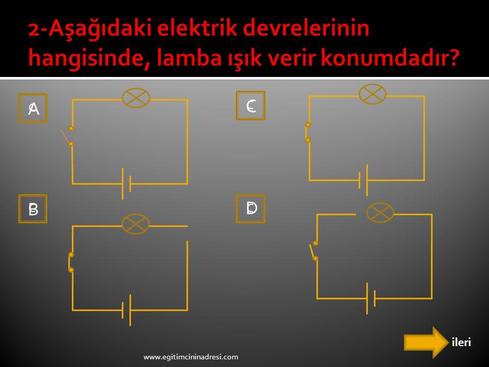 ileri C C C D C A C B www.egitimcininadresi.com