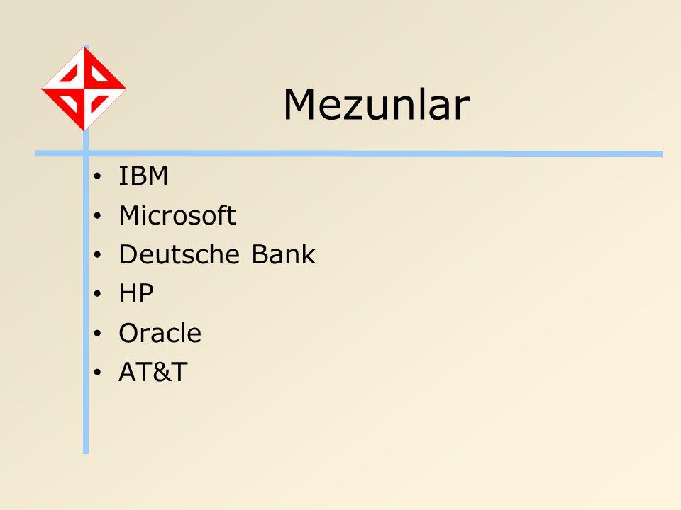 Mezunlar IBM Microsoft Deutsche Bank HP Oracle AT&T