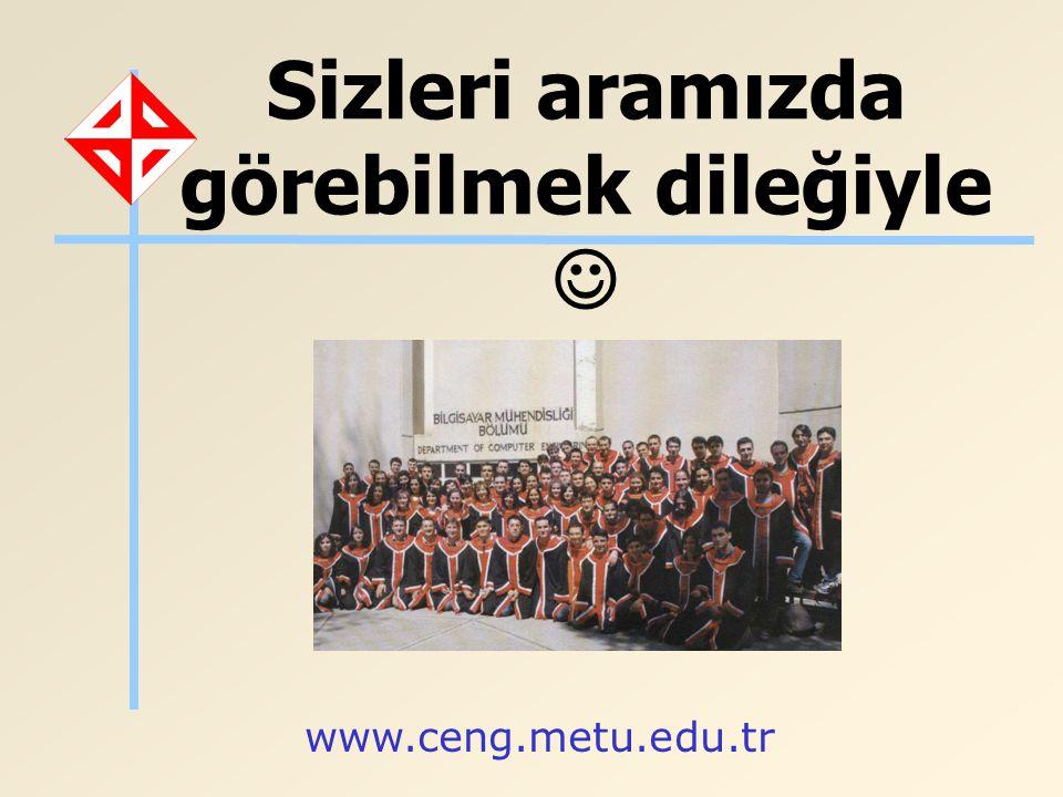 Sizleri aramızda görebilmek dileğiyle www.ceng.metu.edu.tr