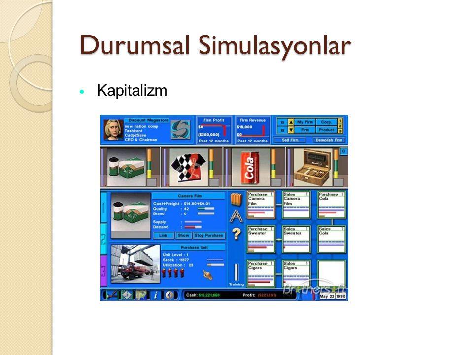 Durumsal Simulasyonlar Kapitalizm