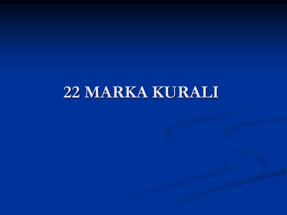 22 MARKA KURALI