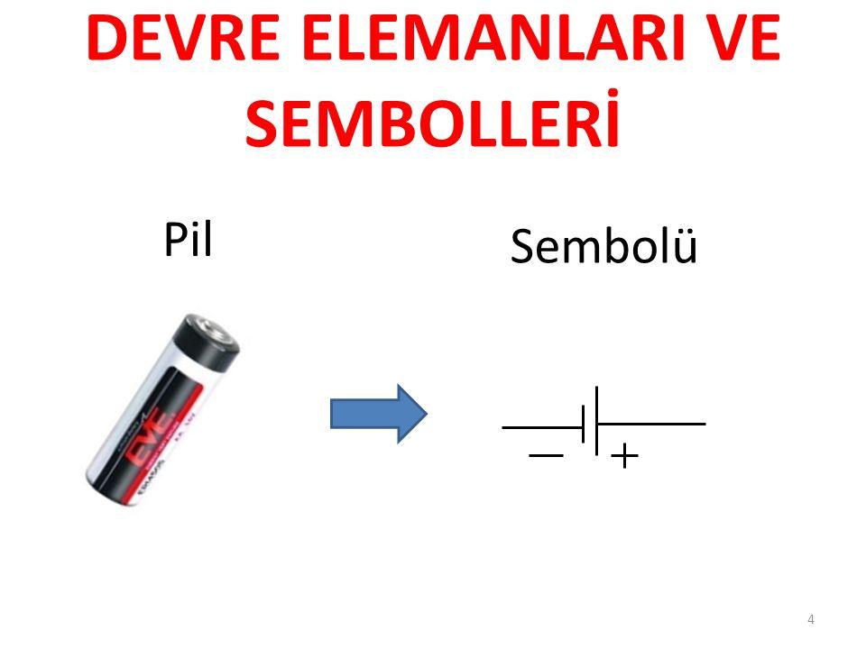 DEVRE ELEMANLARI VE SEMBOLLERİ Pil Sembolü 4