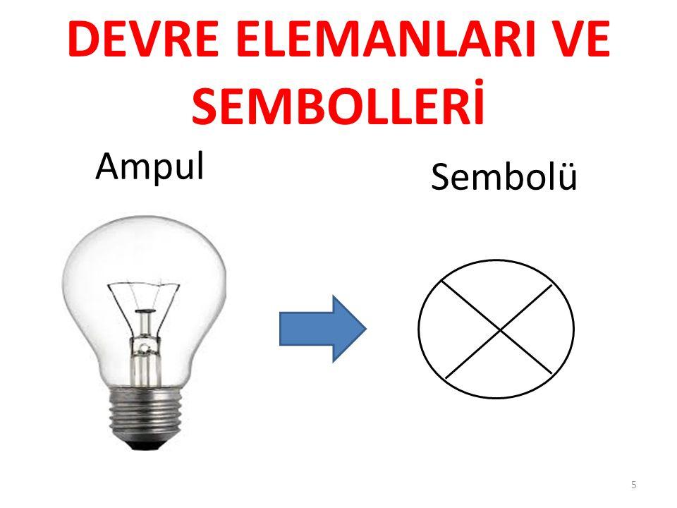 Ampul Sembolü 5 DEVRE ELEMANLARI VE SEMBOLLERİ