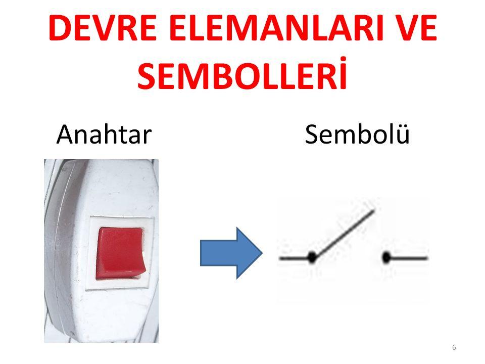AnahtarSembolü 6 DEVRE ELEMANLARI VE SEMBOLLERİ