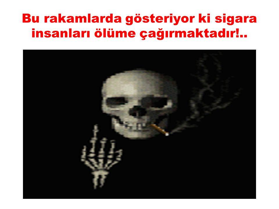 Bu rakamlarda gösteriyor ki sigara insanları ölüme çağırmaktadır!..