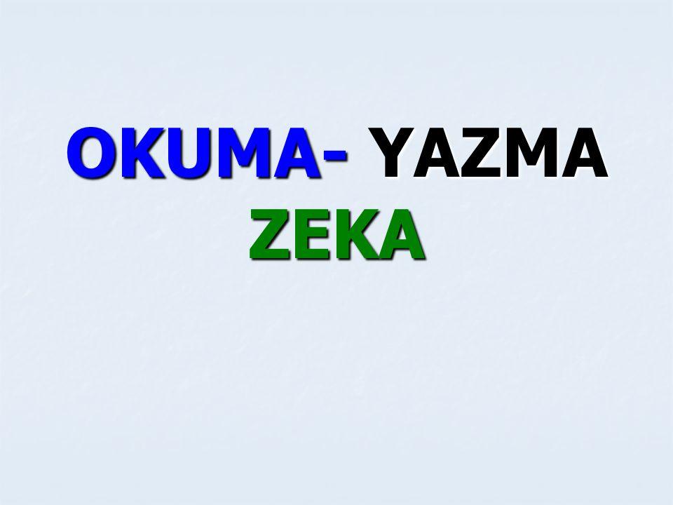 ZEKA ZEKA ENGELLİ Zihin gelişmesinde meydana gelen yavaşlama, duraklama veya gerileme nedeniyle davranış ve uyum yönünden yaşıtlarına göre sürekli gerilik ve yetersizliği olduğu için normal eğitim sürecinden yararlanamayanlara denir.