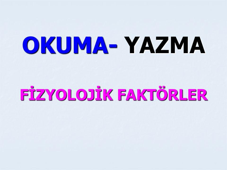 OKUMA- YAZMA CİNSİYET