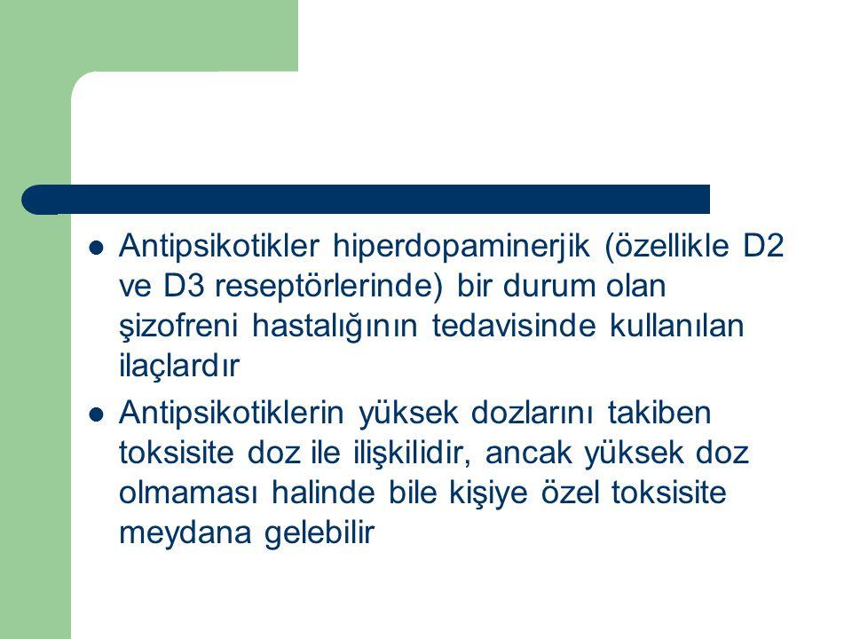 Antipsikotikler hiperdopaminerjik (özellikle D2 ve D3 reseptörlerinde) bir durum olan şizofreni hastalığının tedavisinde kullanılan ilaçlardır Antipsi