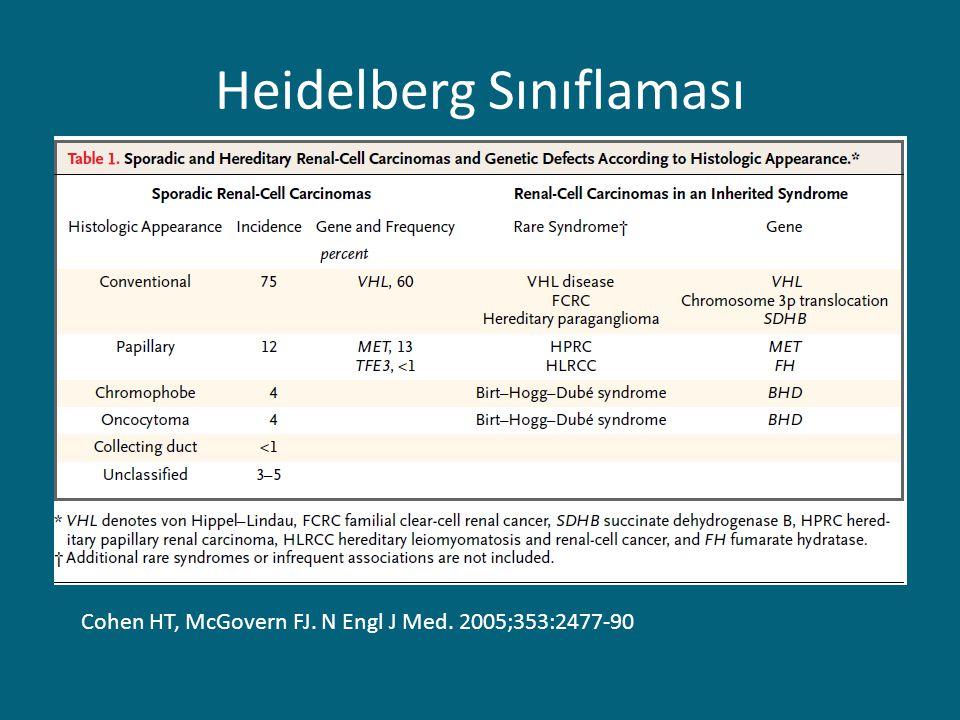 Heidelberg Sınıflaması Cohen HT, McGovern FJ. N Engl J Med. 2005;353:2477-90