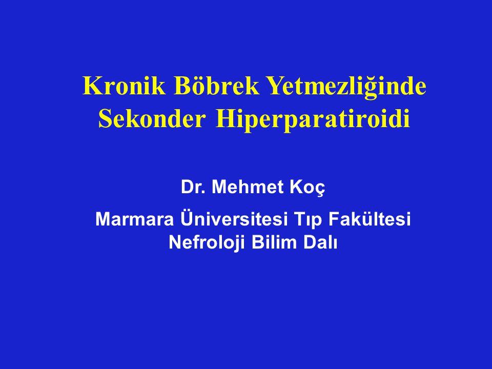 Kronik Böbrek Yetmezliğinde Sekonder Hiperparatiroidi Dr. Mehmet Koç Marmara Üniversitesi Tıp Fakültesi Nefroloji Bilim Dalı