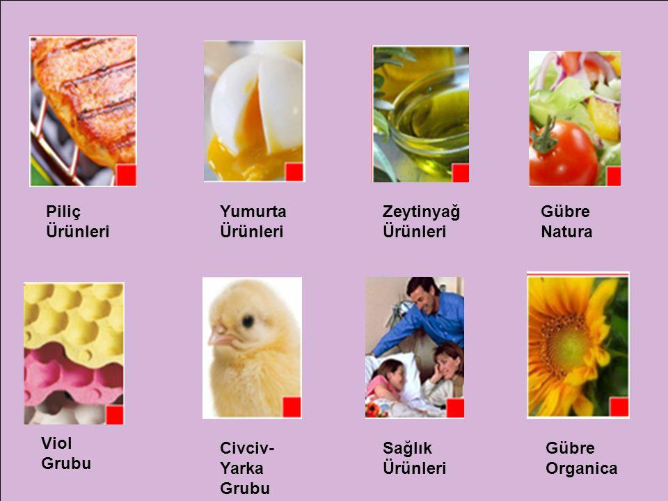 Piliç Ürünleri Yumurta Ürünleri Zeytinyağ Ürünleri Gübre Natura Viol Grubu Civciv- Yarka Grubu Sağlık Ürünleri Gübre Organica