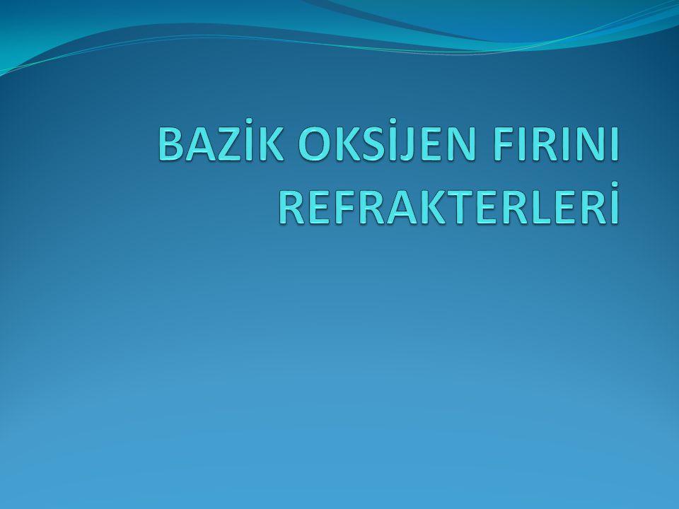 İÇERİK Bazik Oksijen Fırını BOF'ta kullanılan refrakterler Üretim şekillerine göre BOF refrakterleri BOF astarları