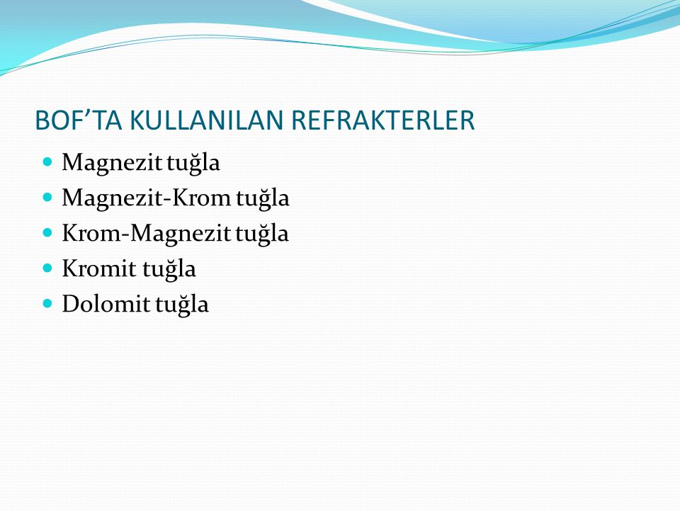 MAGNEZİT TUĞLA Magnezit refrakterler, magnezit cevherinden veya deniz suyu magnezitinden üretilen periklas (MgO) dan yapılmaktadır.