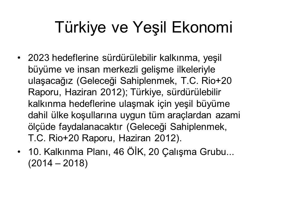 Türkiye ve Yeşil Ekonomi 2023 hedeflerine sürdürülebilir kalkınma, yeşil büyüme ve insan merkezli gelişme ilkeleriyle ulaşacağız (Geleceği Sahiplenmek