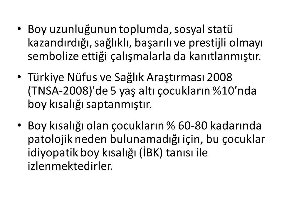 Boy uzunluğunun toplumda, sosyal statü kazandırdığı, sağlıklı, başarılı ve prestijli olmayı sembolize ettiği çalışmalarla da kanıtlanmıştır. Türkiye N