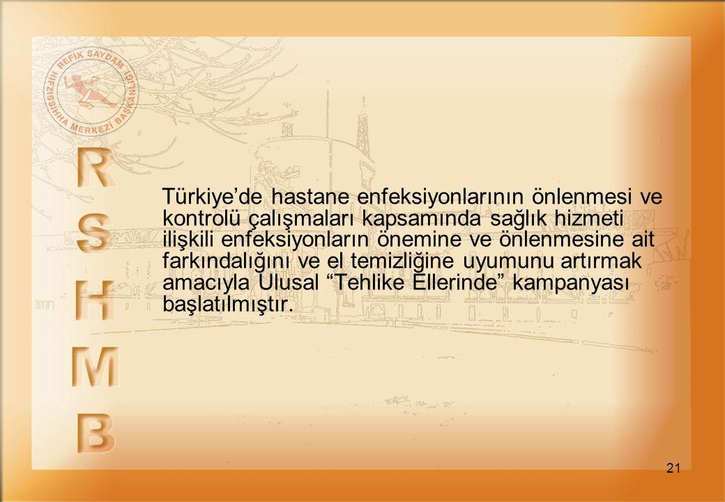 21 Türkiye'de hastane enfeksiyonlarının önlenmesi ve kontrolü çalışmaları kapsamında sağlık hizmeti ilişkili enfeksiyonların önemine ve önlenmesine ai