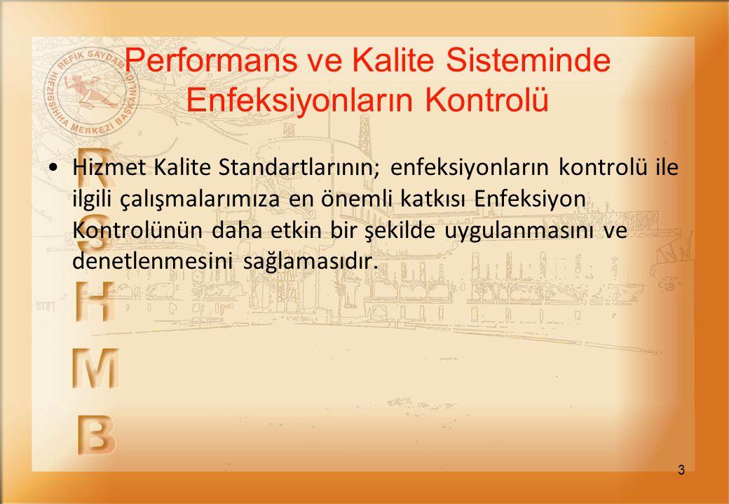 4 Türkiye'deki tüm devlet hastaneleri ve eğitim araştırma hastaneleri Sağlıkta Performans ve Kalite Yönergesi'ne göre, Sağlık Bakanlığı Performans Yönetimi ve Kalite Geliştirme Daire Başkanlığı'nca görevlendirilen değerlendiriciler veya İl Sağlık Müdürlüklerinde oluşturulan Performans ve Kalite Koordinatörlükleri tarafından denetlenmektedir.