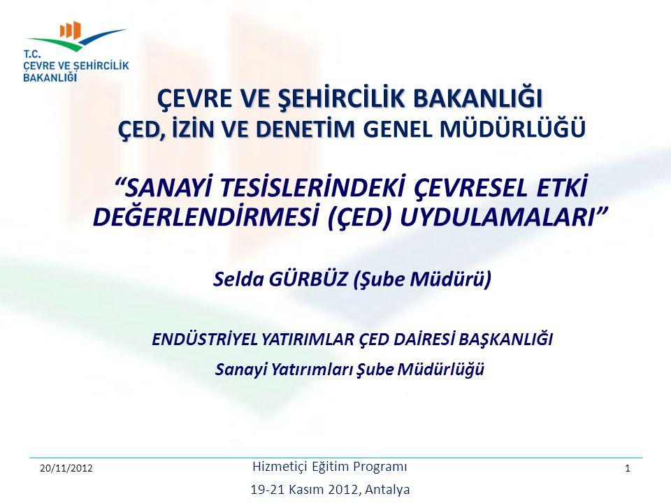 TEKSİL TESİSLERİNİN ÖNEMLİ ÇEVRESEL ETKİLERi İşletme Dönemi Olası Çevresel Etkiler  Atık su  Emisyon, koku  Gürültü  Atıklar (Katı, Ambalaj Atıkları, Atık yağ, Atık pil, Tehlikeli Atıklar, Arıtma çamuru) ÇED, İzin ve Denetim Genel Müdürlüğü, Hizmetiçi Eğitim, 19-21 Kasım 2012, Antalya 2 03.04.2015