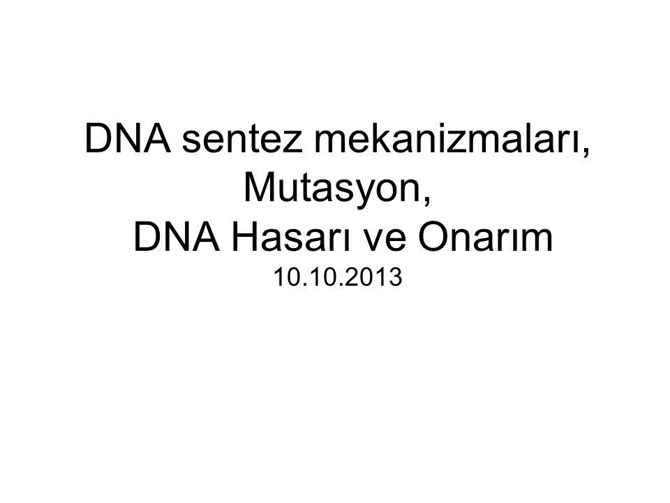 DNA'nın Yapısı 1953 yılında Watson ve Crick tarafından aydınlatılmıştır.