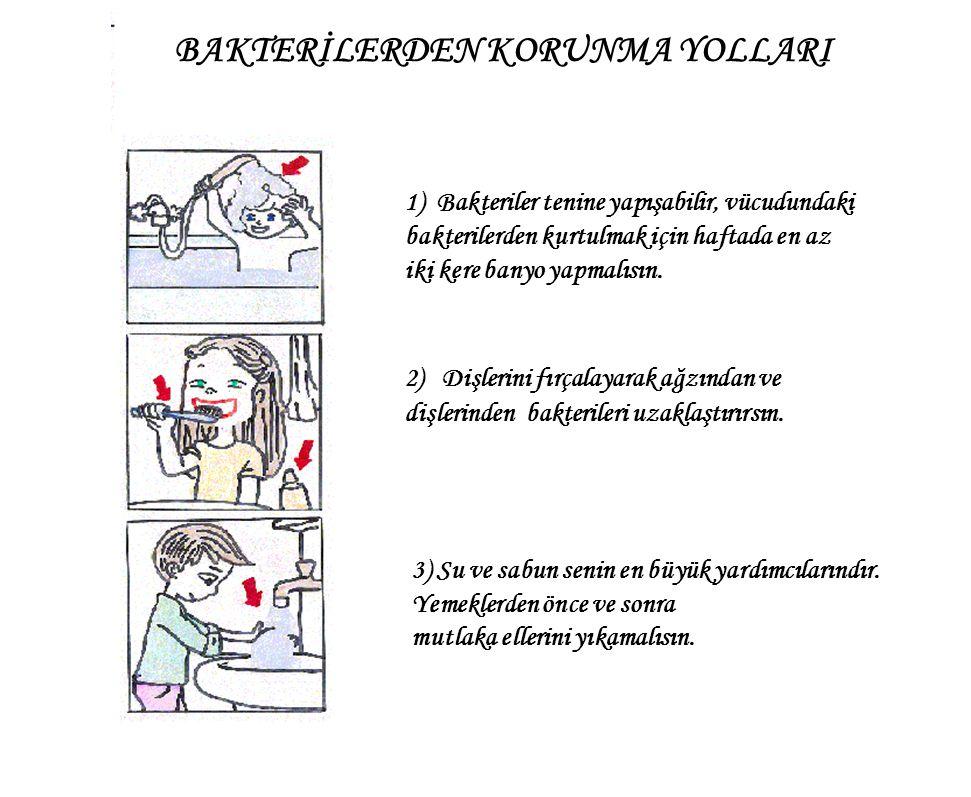 1) Bakteriler tenine yapışabilir, vücudundaki bakterilerden kurtulmak için haftada en az iki kere banyo yapmalısın.