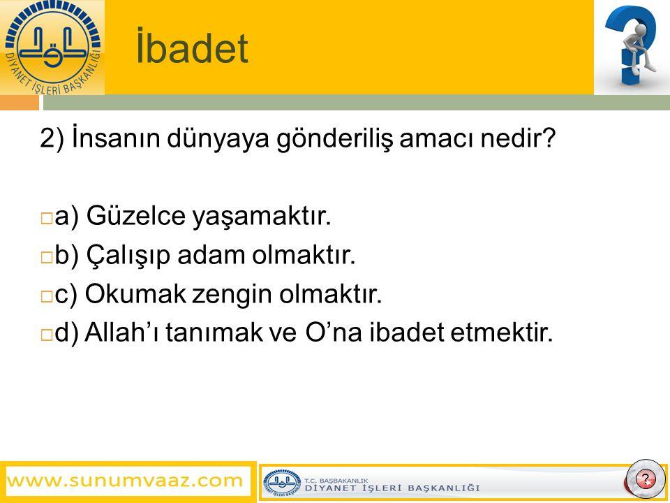İbadet 6) Camilerde Kâbe yönünü gösteren, imama ayrılmış girintili yere ne denir.