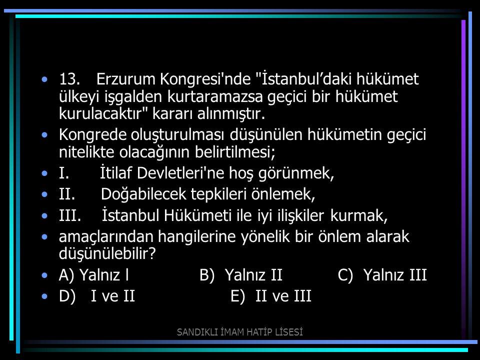 13. Erzurum Kongresi'nde