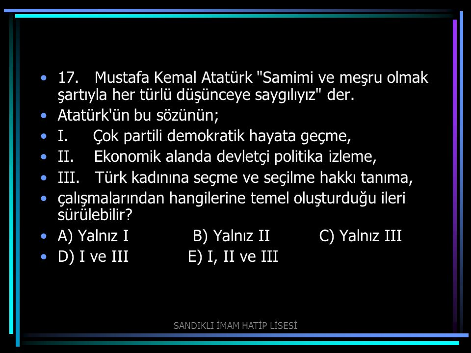 17. Mustafa Kemal Atatürk