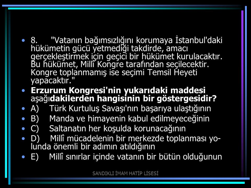 9.Mustafa Kemal in IX.