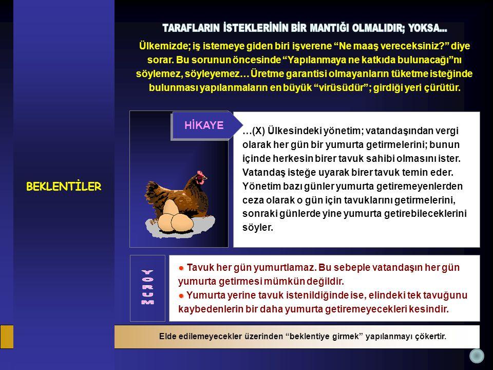 ● ● Tavuk her gün yumurtlamaz. Bu sebeple vatandaşın her gün yumurta getirmesi mümkün değildir.