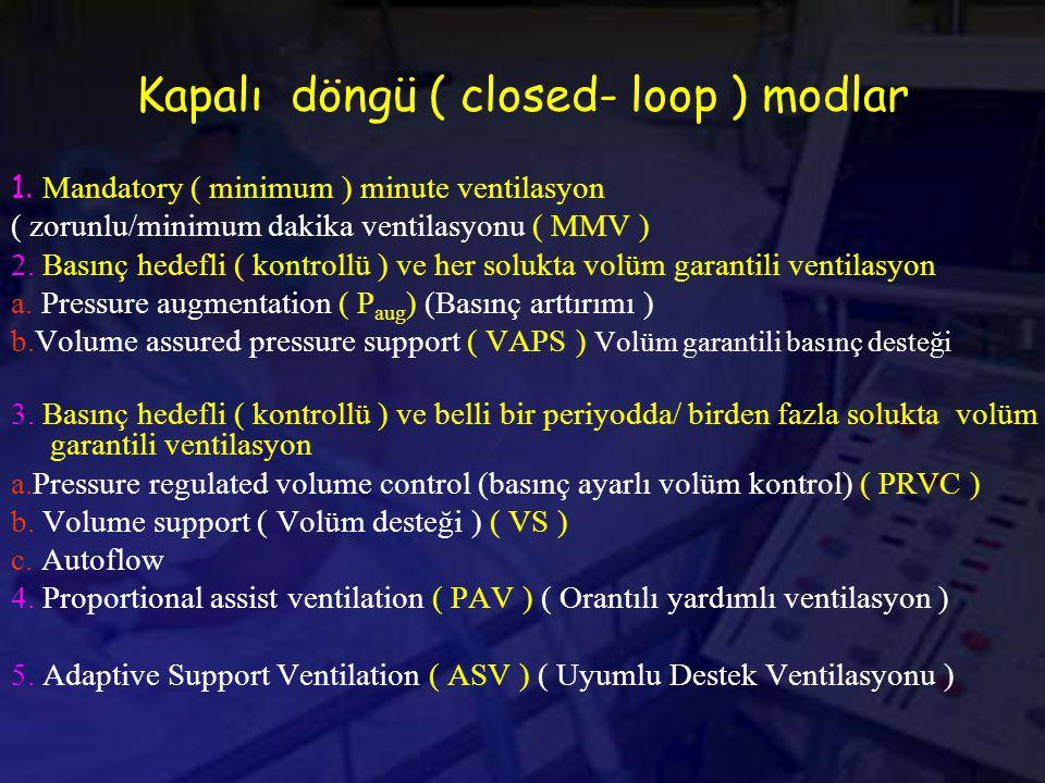 Kapalı döngü ( closed- loop ) modlar 1.