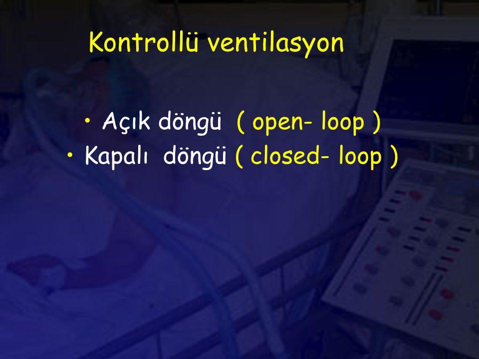 Kontrollü ventilasyon Açık döngü ( open- loop ) Kapalı döngü ( closed- loop )