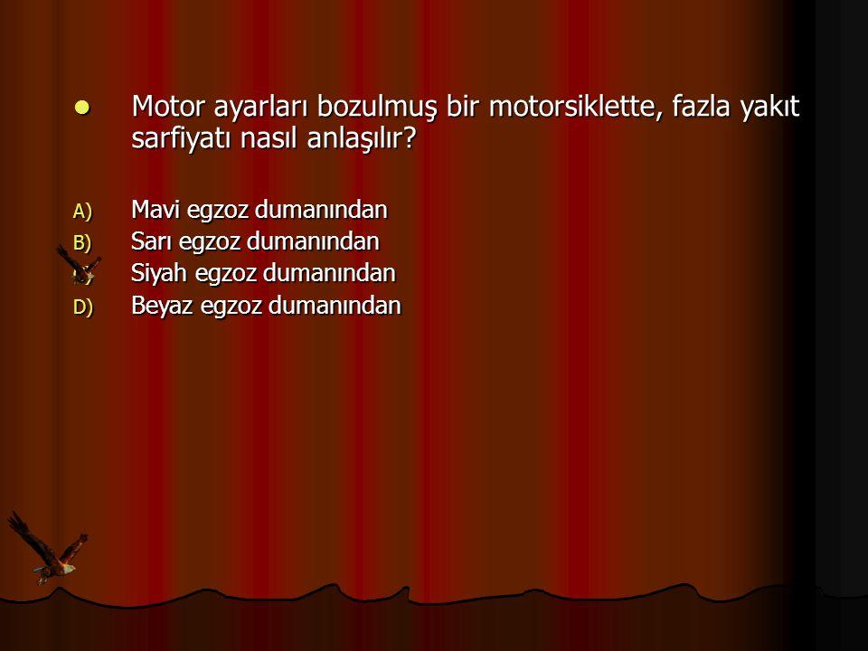 Motor ayarları bozulmuş bir motorsiklette, fazla yakıt sarfiyatı nasıl anlaşılır? Motor ayarları bozulmuş bir motorsiklette, fazla yakıt sarfiyatı nas