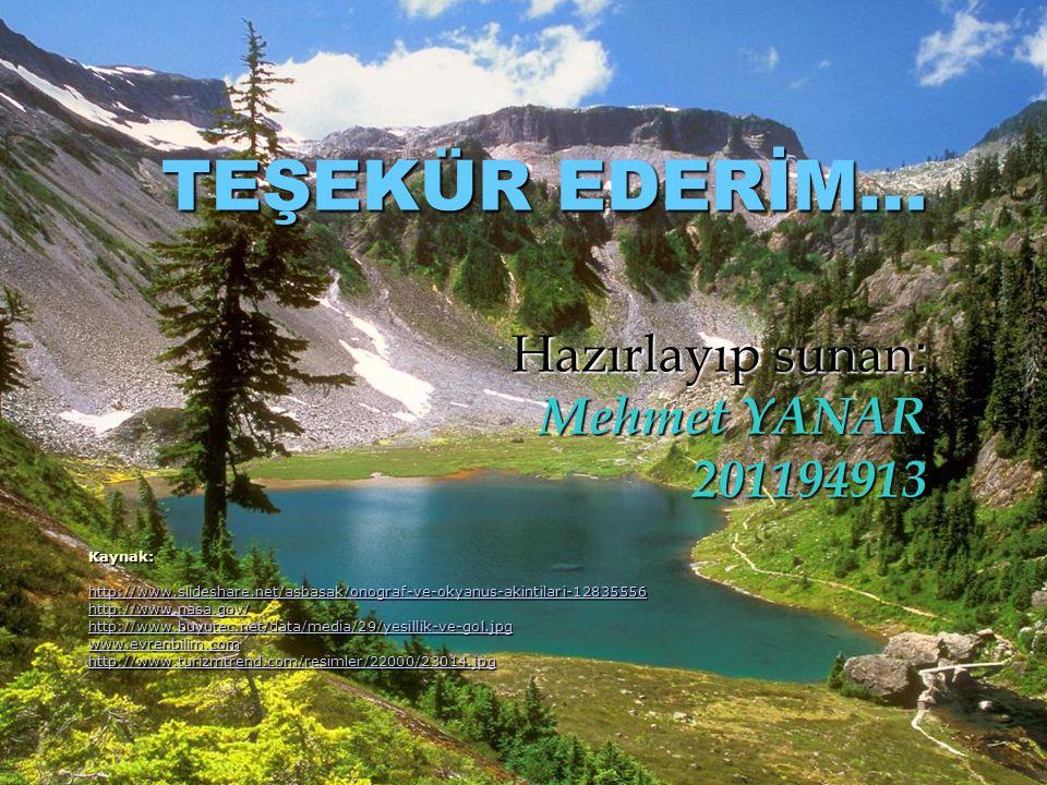 TEŞEKÜR EDERİM… Hazırlayıp sunan : Mehmet YANAR 201194913 Kaynak: http://www.slideshare.net/asbasak/onograf-ve-okyanus-akintilari-12835556 http://www.